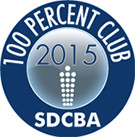 San Diego County Bar Association 100% Club