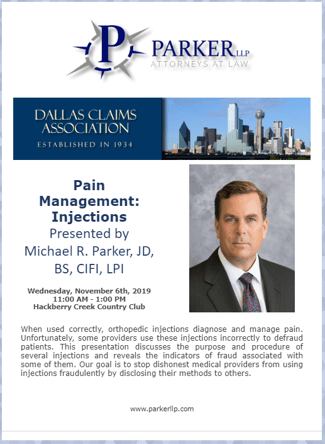 Pain Management Injections Dallas Claims Association